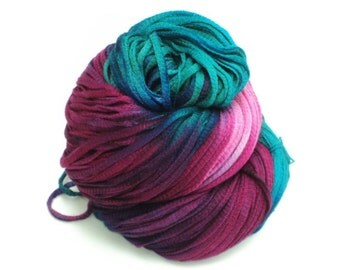 Pedals, Hand Dyed, Hand Painted, Ribbon, Yarn, Pink, Blue, Purple