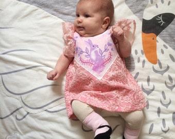 girly pink lace bunny print dress toddler girls Supayana SS2017