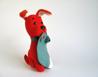 Vintage Dream Pets Dog Stuffed Animal by R Dakin Socko with Original Paper Tag Christmas Stocking Colorful Dog Toy Plush Japan Toy 1970s Toy