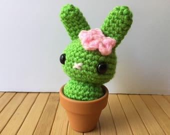 Cactus Flower Moon Buns - Amigurumi Cactus Bunny Rabbit