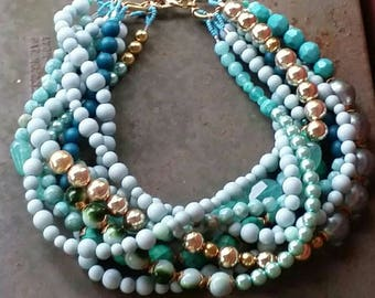 The B.L.U.E.S...A Multi-Strand Necklace from Wendy BakeR