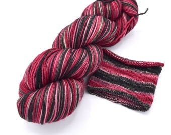 Solitaire Watercolor Stripes - Self-Striping Targhee Sock Yarn Made to Order