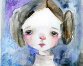 Princess Leia - mixed media art print by Mindy Lacefield