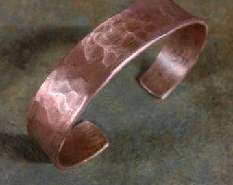 Viking Arm Ring Hammered Copper Patina Bracelet Medieval Jewelry
