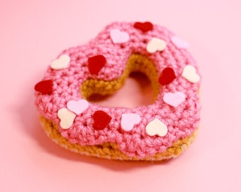 Sweet Heart Donut - Pink with Heart Sprinkles