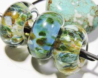 Lampwork Glass Borosilicate Beads BIG SLIDES Two Sisters Designs 020517B