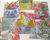 Set of  6 art postcards