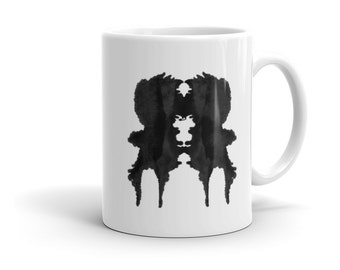 Psychology Mug inspired by Rorschach Inkblot Test 1