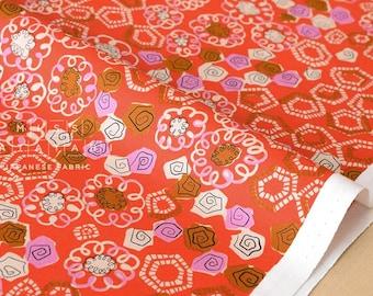 Cotton + Steel Yours Truly - head over heels - orange - 50cm
