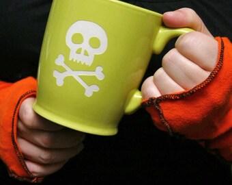 SALE - Skull & Bones Mug - Choose Your Color