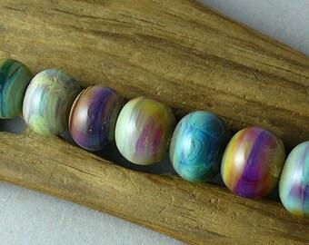 SRA Lampwork Glass Beads Handmade by Catalinaglass  Sunrise