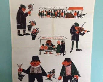 vintage dutch tea towel from the sixties