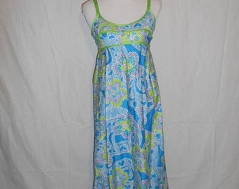 Vintage long maxi dress 60s 70s    floral   dress      beautiful        NALII Fashions   Honolulu   XS