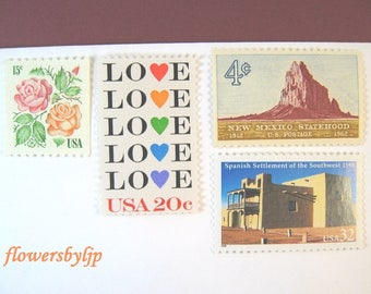 New Mexico 2017 Wedding Postage, Love - Roses - Southwest - Desert Scene Stamps, Mail 20 Invites 2 oz, 70 cents postage stamps, Santa Fe