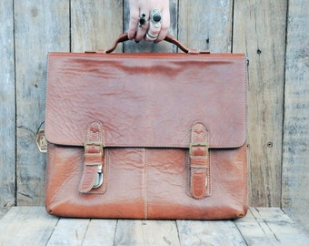 Leather Briefcase, Mens Briefcase, Laptop Briefcase, Leather Bag, Laptop Bag, Leather Shoulder Bag, Leather Travel Bag, Large Briefcase