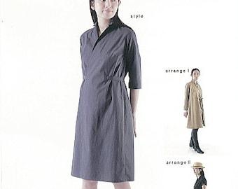 M161 Adult Tailored Wrap Dress M Pattern - Japanese M Pattern