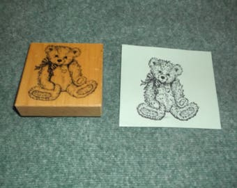 Lg Teddy Bear Rubber Stamp