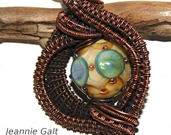 Lampwork  Art Jewelry by Jeanniesbeads #1901
