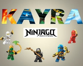 Personalised Childrens Kids A4 placemat Lego Ninjago