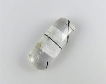 Tourmalated Quartz - Rounded Rectangle Cabochon, 20.95 cts - 12x29 (TQ190)