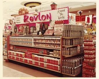 vintage photo Instant Download REVLON Hair Color Hair spray Drugstore Display Color  Beauty Shop Products digital download