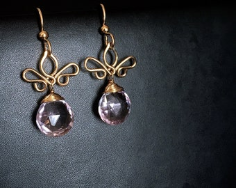 Adamaris - Lavender Amethyst dangly earrings