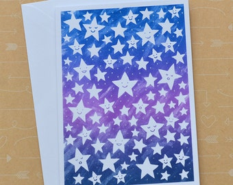 Sky of Stars Screenprinted  Card