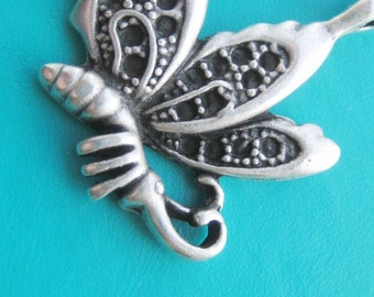 Greek Pewter Dragonfly silver pewter pendant x 1