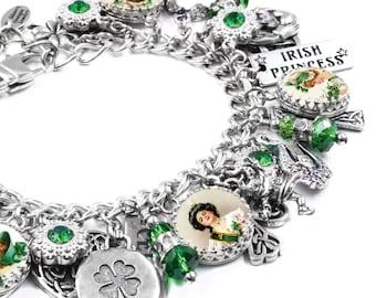 Celtic Jewelry, Silver Charm Bracelet, Irish Jewelry, Irish Charm Bracelet, Irish Bracelet, Scottish Bracelet, Irish Jewelry