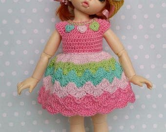 OOAK Yosd/LittleFee 4 Pc Outfit Set Sweet, Sweeter, Sweetest