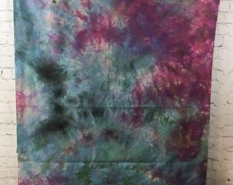 Hand Dyed Fabric - Hydrangea Blue Purple Pink - 1 yard -  Modern Shibori Cotton - 359