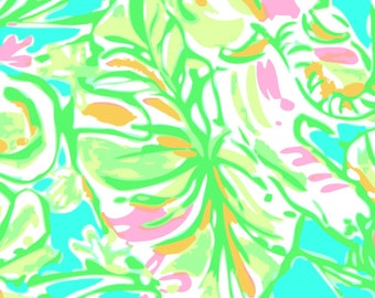 "Prints Elephant Lilly Inspired HTV, pattern vinyl, sheet size 12""x12"", Lily P adhesive printed patterned craft vinyl LP-151"
