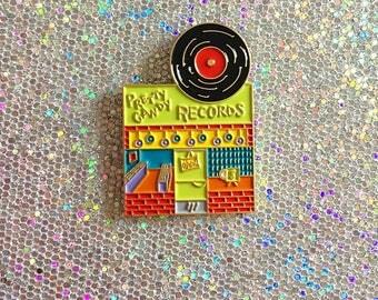 Pin Street #4: Pretty Candy Record Shop enamel pin