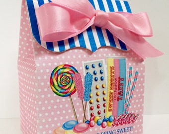 Old Fashion Candy Sweet Shoppe Birthday Party, Personalized favor Box,Candy Favor box,Sweet Shop, Candy Buffet box,Birthday party, Treat box