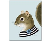 Squirrel Lady art print 5x7
