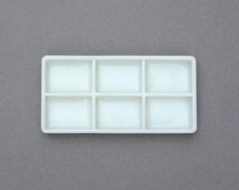 Vintage 6 Part Milk Glass Dental Instrument Tray American Cabinet Co Beading Tray Drawer Organizer Industrial Chic