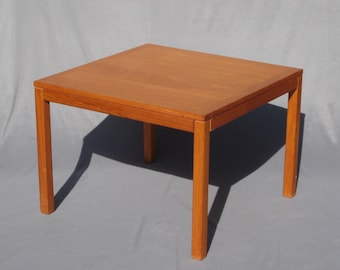 Danish Modern Teak End Table Vejle Stole Denmark Square Coffee Table Mid Century Modern Decor
