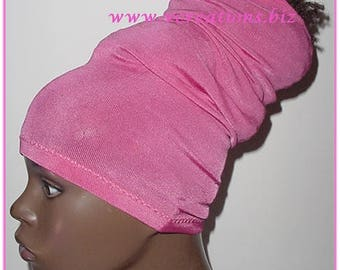 HeadTube-HeadBand-Locs-Natural Hair Accessories-Pink-Fuchsia