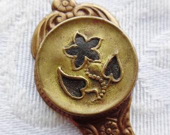 Bookmark- Antique Perfume Button- Violet