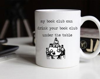 My Book Club Coffee Mug | Ceramic Coffee Mug | Gift for Coffee Drinker | Coffee Mug Gift | Sublimation Mug | Book Reader | Book of the Month