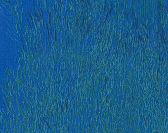 Nani Iro Wild - Elegant Wind color B Japanese double gauze cotton fabric blue ocean