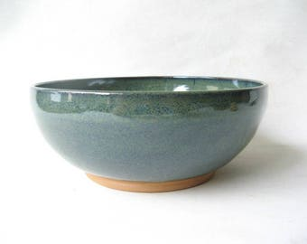Large Pottery Bowl, 6 Cup Serving Bowl, Large Stoneware Bowl, Salad Bowl