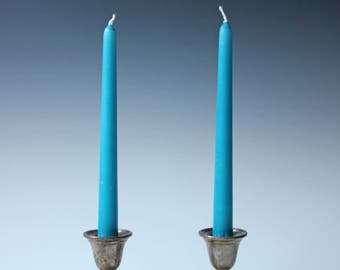 Pair of vintage sterling silver candle holder