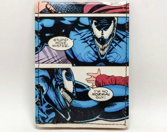Sewn Duct Tape Comic Book Wallet - Venom Design 2