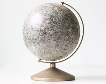 """Vintage Moon Globe, 6"""" Diameter Moon by Replogle"""