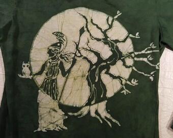 S Women's Goddess Athena batik long sleeve Small