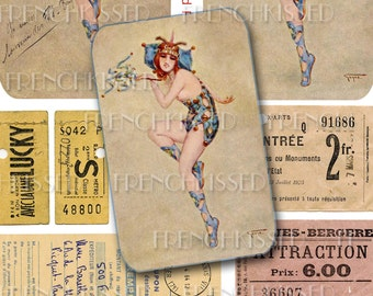 Lucky Night Out Folies Bergere Tickets Dancer by Gayac 8x10 Digi Page
