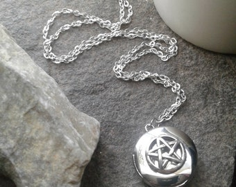 Pentacle Locket Necklace