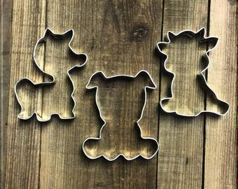 Set of  Cow, Horse and Pig and Metal Cookie Cutters