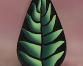 Green Polymer Clay Feathered Leaf Cane -'Oma's Garden' series (49B)